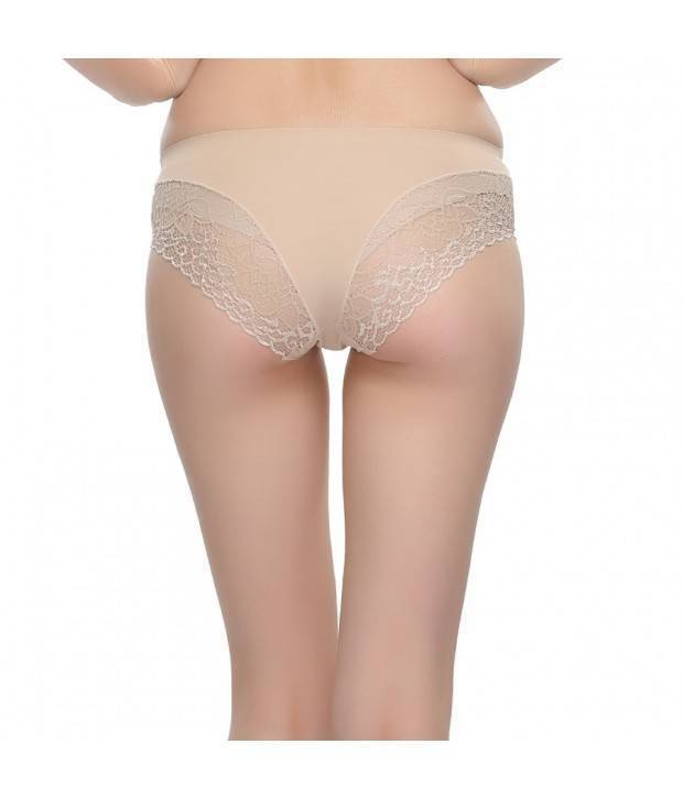 Hannahdoss Spandex And Lace Hipster Panty In Skin Colour-CP18