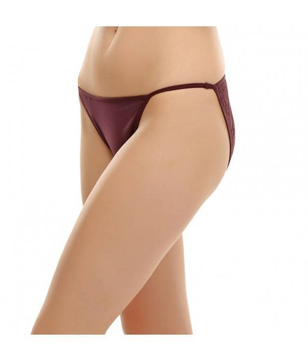 Hannahdoss Polyamide & Lace Hipster In Dark Brown-CP50