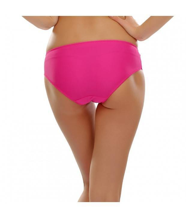 Hannahdoss Lacy Spandex Bikini Panty In Hot Pink-CP56