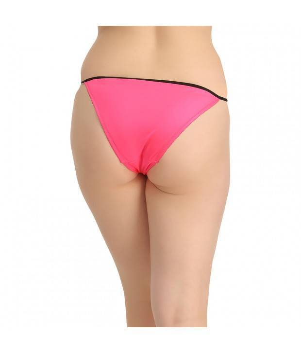 Hannahdoss LOW WAIST BIKINI WITH LACE DESIGN IN FRONT - PINK-CP64