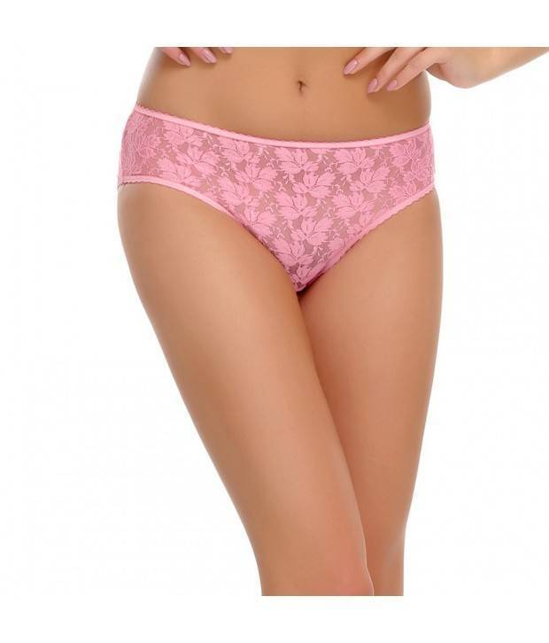 Hannahdoss All Over Lace  Panty In Light Pink-CP66